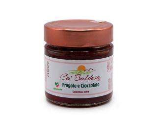 Confettura extra fragole e cioccolato